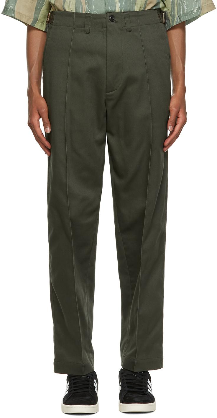 Nicholas Daley 绿色 70s 长裤