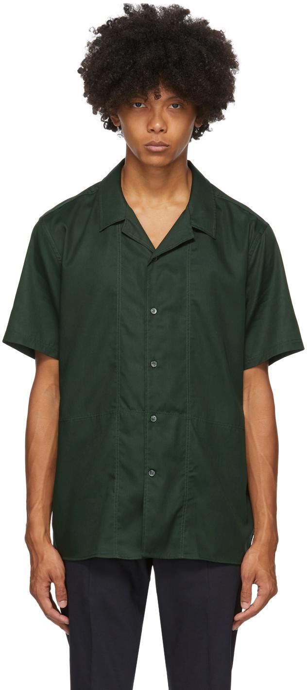 Tiger of Sweden 绿色 Riccerde 短袖衬衫