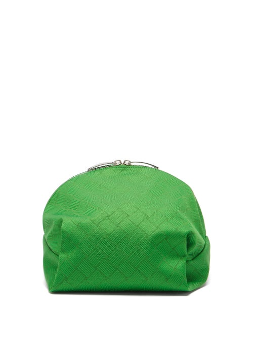 Bottega Veneta - Tread-jacquard Twill Pouch - Womens - Green