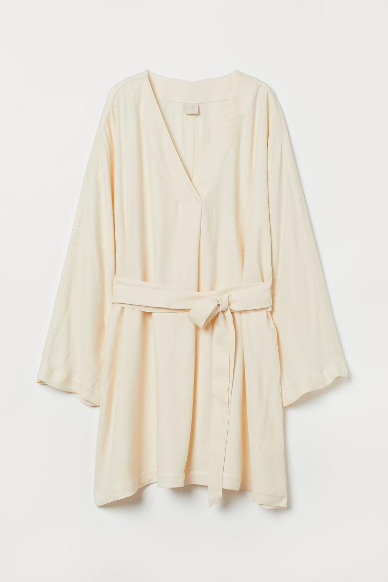 H & M - 短版卡弗坦長衫 - 橙色