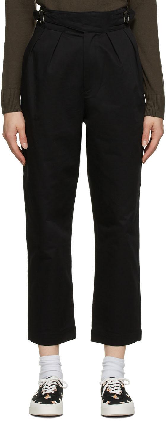 Maison Kitsuné 黑色 Worker 丹宁长裤