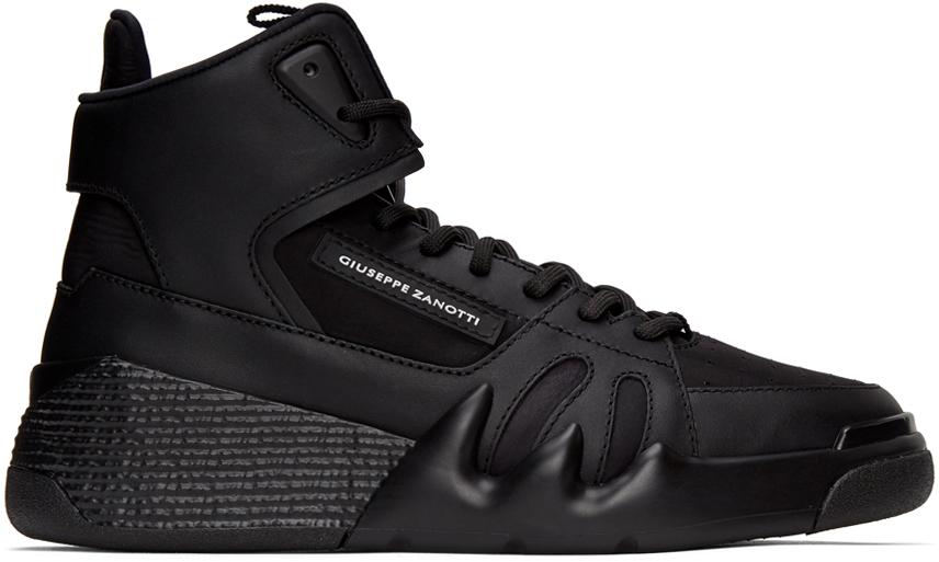 Giuseppe Zanotti 黑色 Jupiter Talon 高帮运动鞋