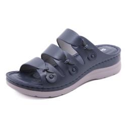 【Taroko】粉彩清新純色厚底涼拖鞋(3色可選)