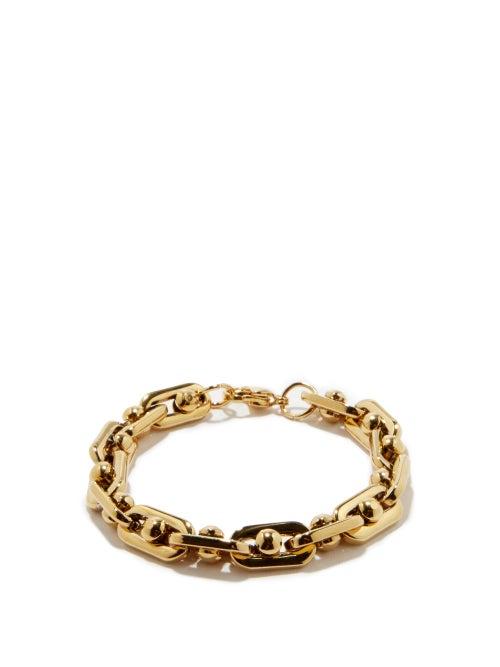 Fallon - Bolt-chain 18kt Gold-plated Bracelet - Womens - Gold