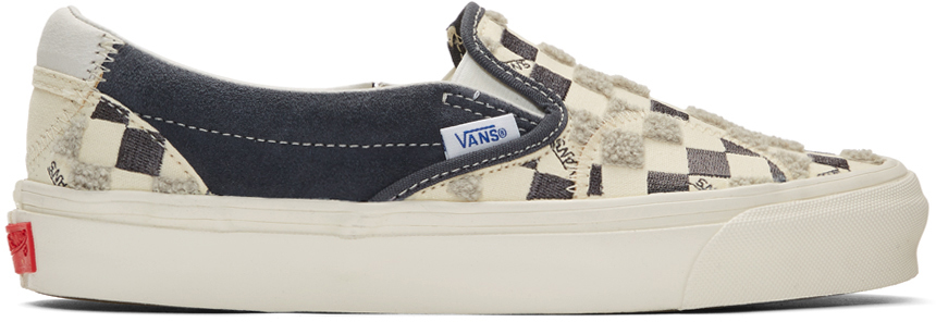 Vans 灰白色 & 黑色 Bricolage 经典款无带运动鞋