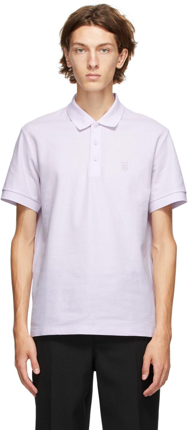 Burberry 紫色 Eddie Polo 衫