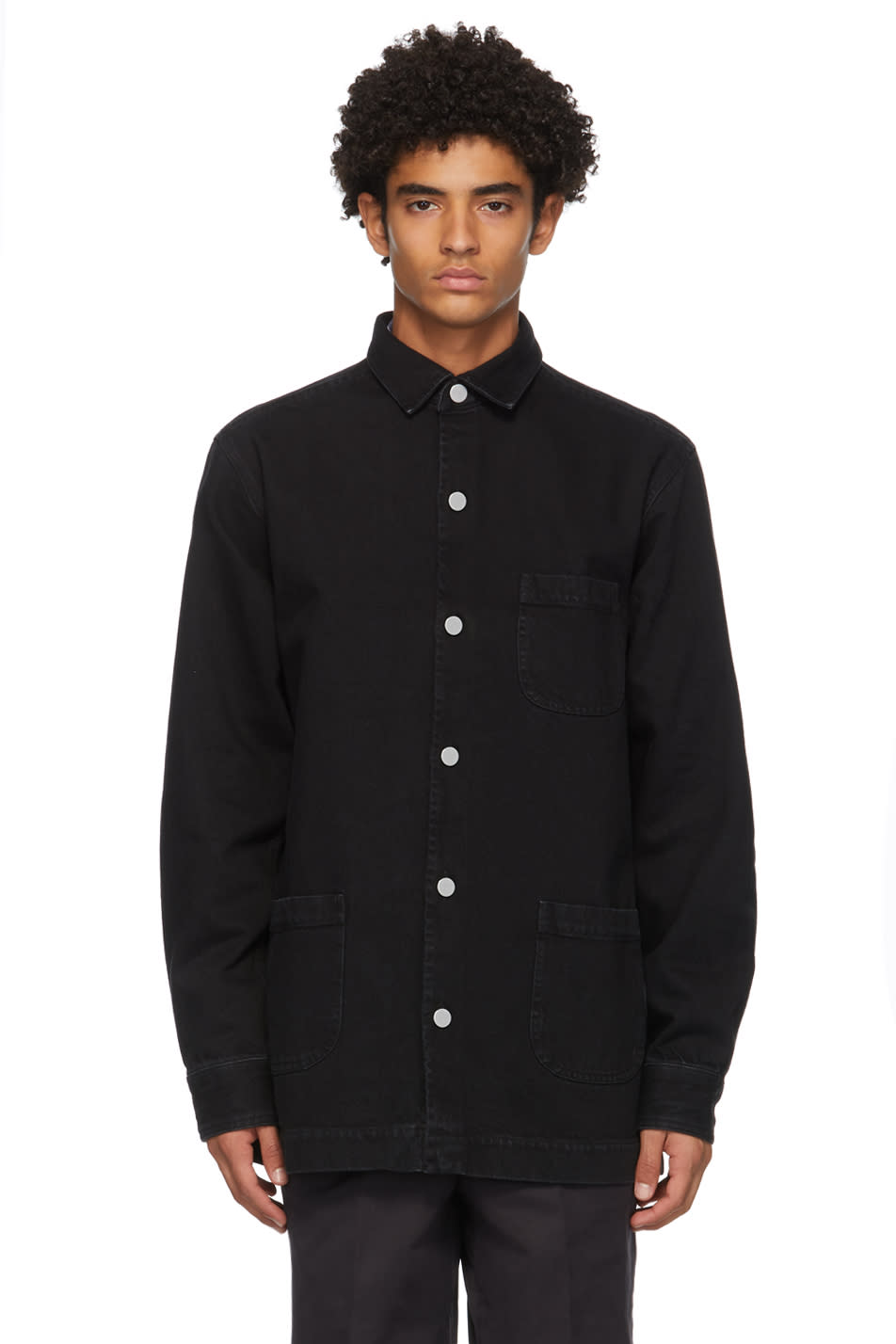 Schnayderman's 黑色 Denim One 夹克衬衫
