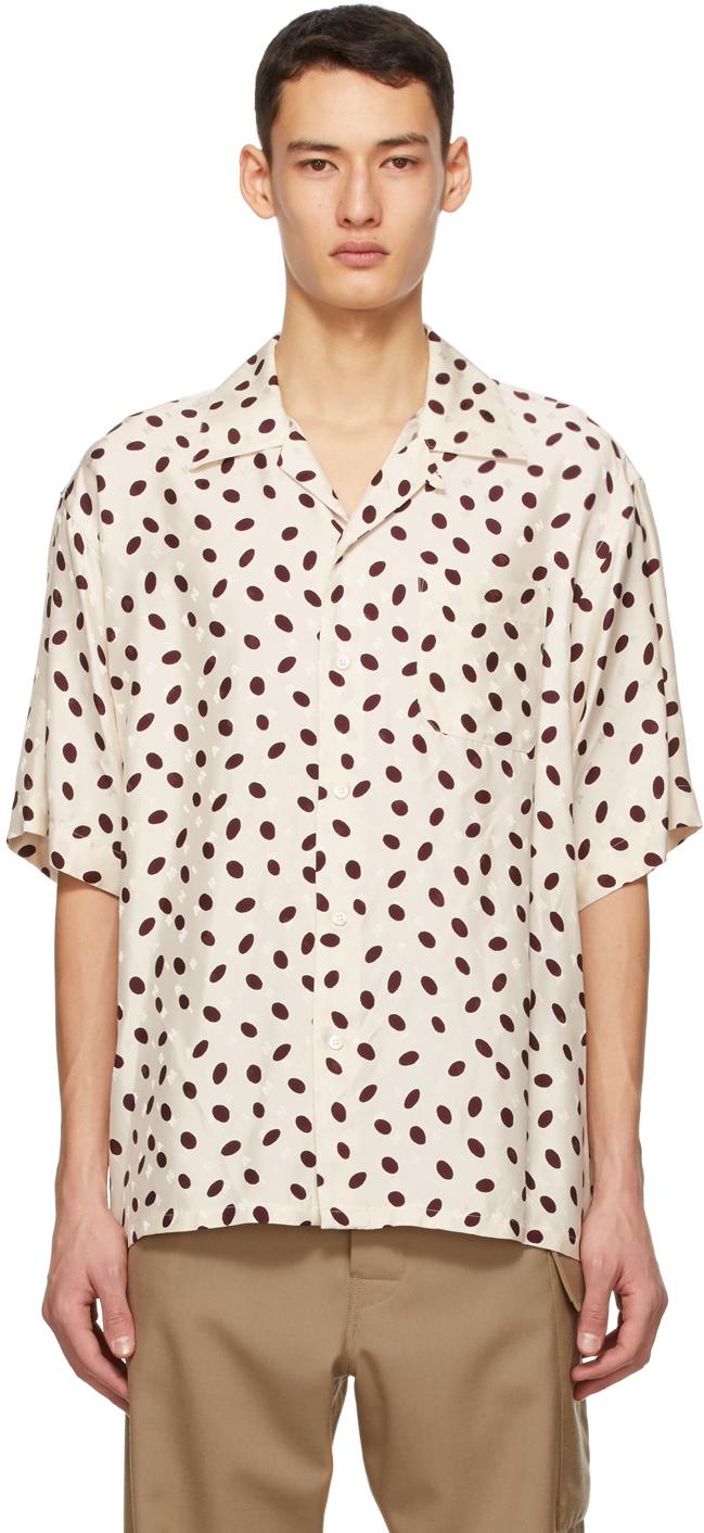 Marni 米色 Bubble 短袖衬衫