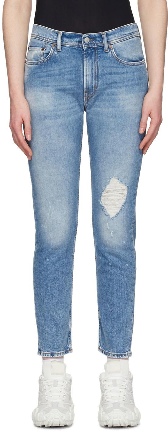 Acne Studios 蓝色 Blå Konst Melk 做旧牛仔裤