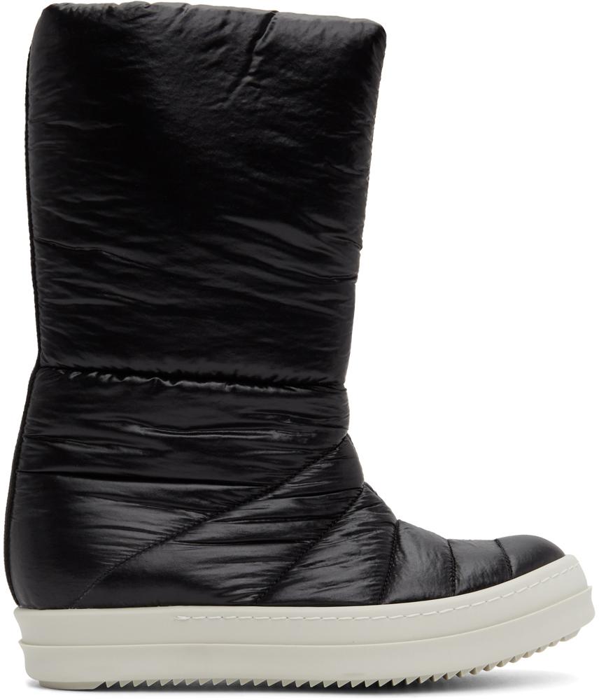 Rick Owens Drkshdw 黑色填充中筒靴