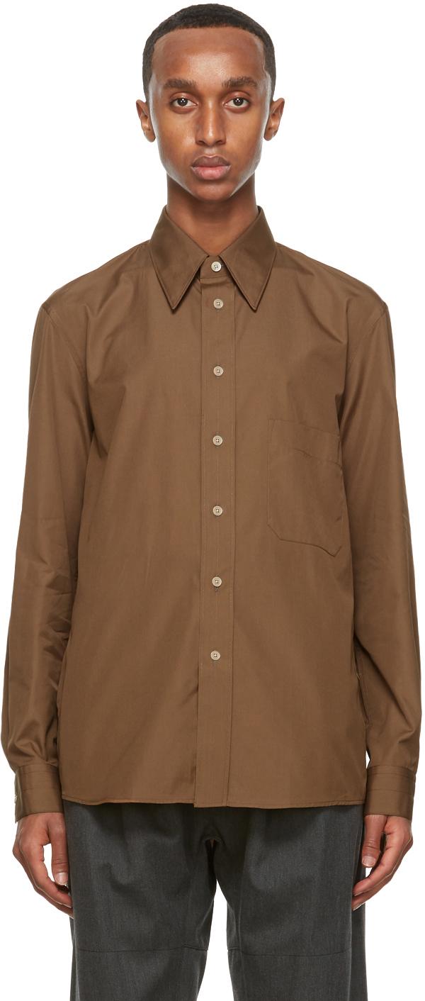 Lemaire 棕色 Regular 衬衫