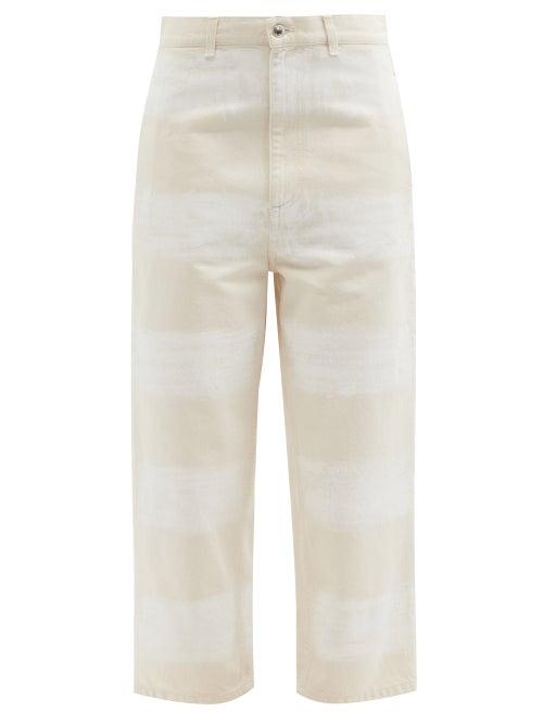 Marni - Brushstroke Stripe-print Wide-leg Jeans - Womens - Ivory