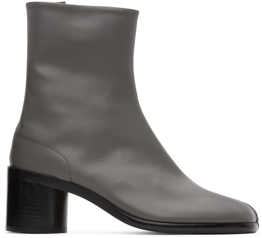 Maison Margiela 灰色 Tabi 中跟踝靴