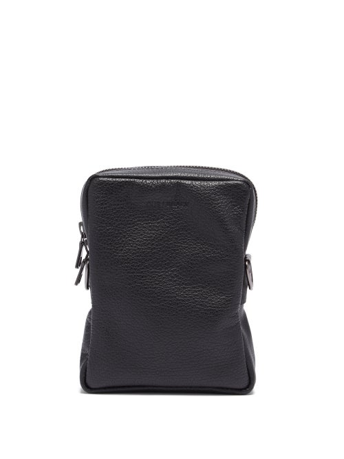 Our Legacy - Delay Mini Leather Cross-body Bag - Mens - Black