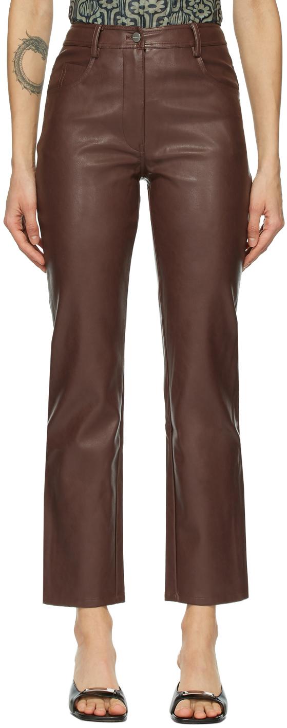 Miaou 棕色 Junior 纯素皮革长裤