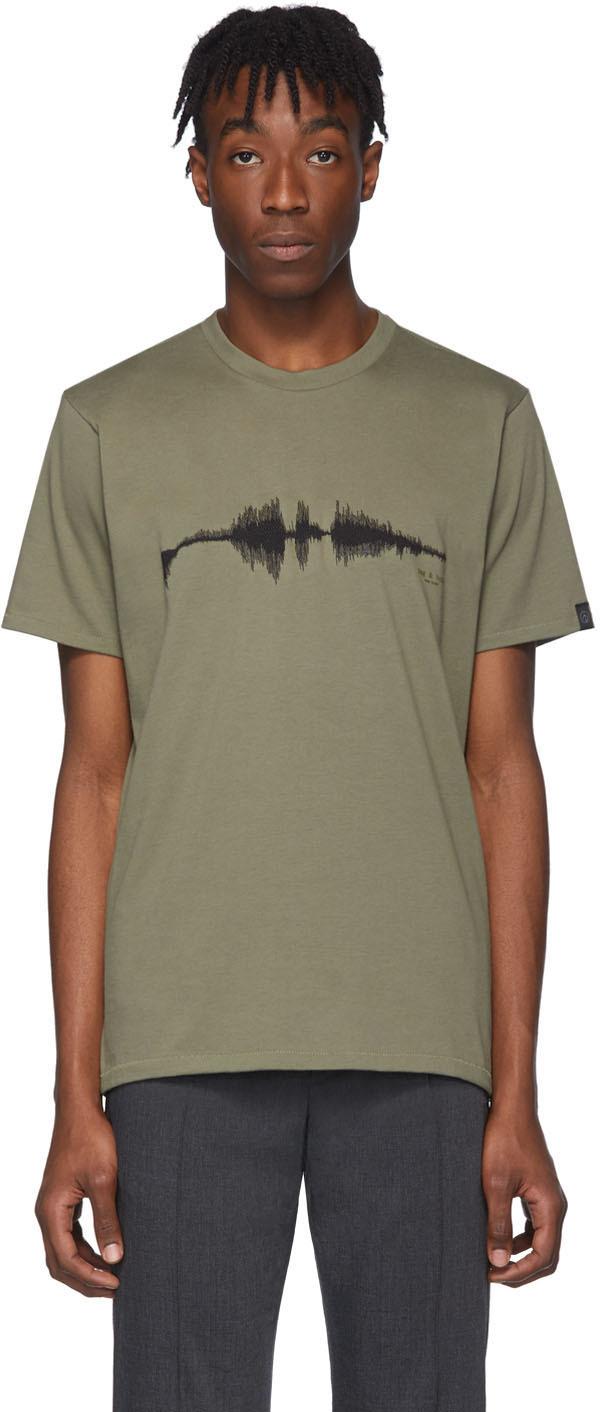 Rag & Bone 绿色 Sound Wave T 恤