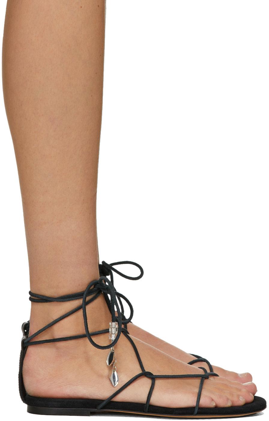 Isabel Marant 黑色 Jindia 平底凉鞋