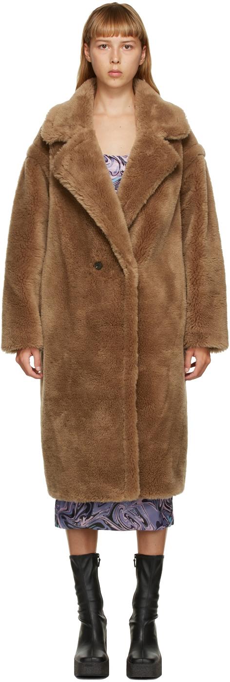 Yves Salomon - Meteo 棕色羊毛双排扣大衣