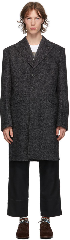 Junya Watanabe 黑色 & 灰色夹色大衣