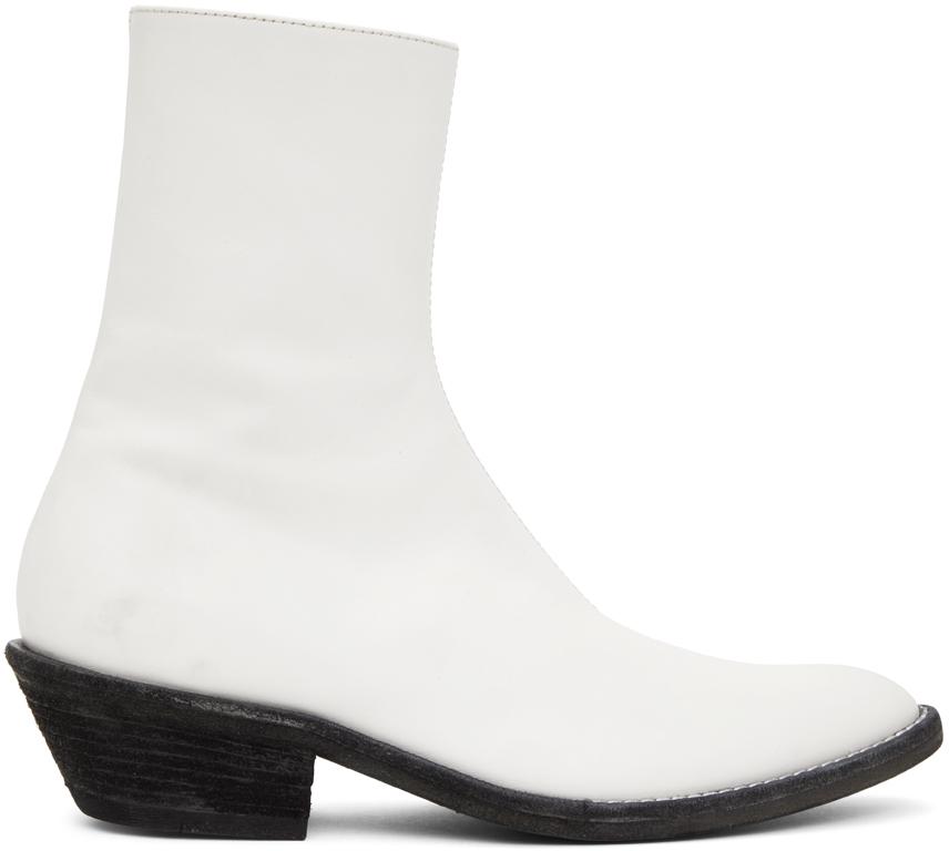 Haider Ackermann 白色 Evening 切尔西靴