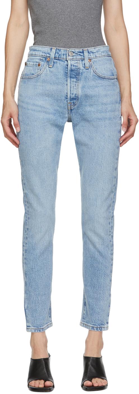 Levi's 蓝色 501 紧身牛仔裤