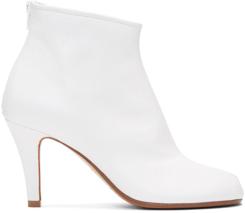 Maison Margiela 白色 Tabi 细高跟踝靴