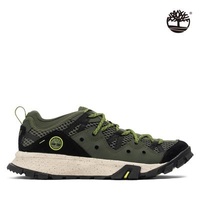 Timberland 男款深綠色網眼低筒健行鞋 A29D7