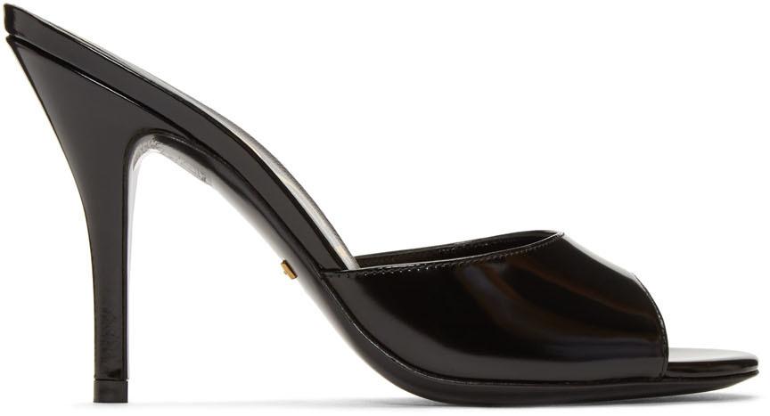 Gucci 黑色高跟凉鞋