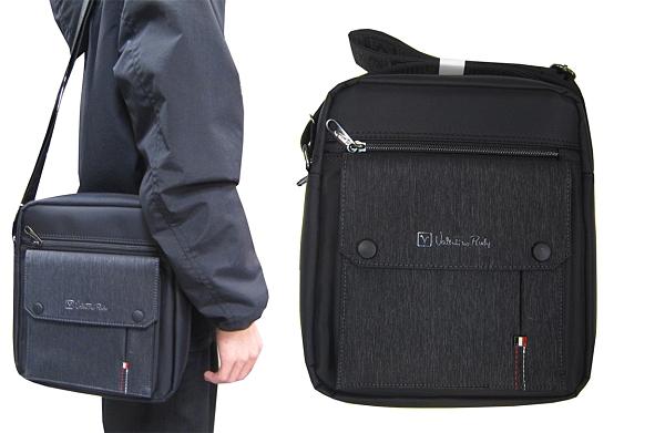 ~雪黛屋~VALENTINO 肩背包中容量8吋平板二主袋+外袋共五層防水尼龍布材質肩背斜側VSW1850