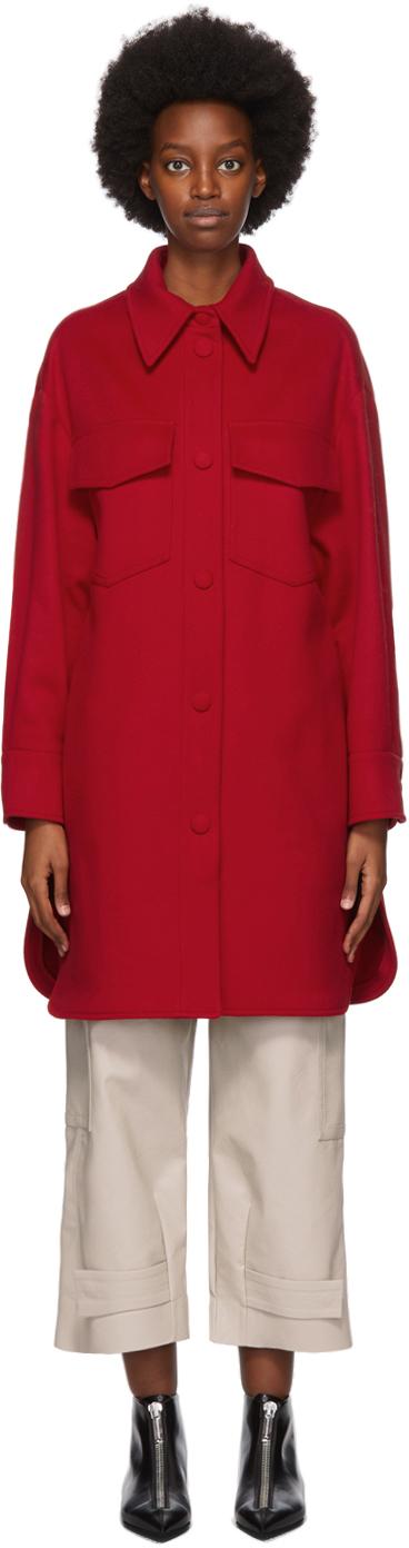 Stella McCartney 红色 Kerry 羊毛大衣
