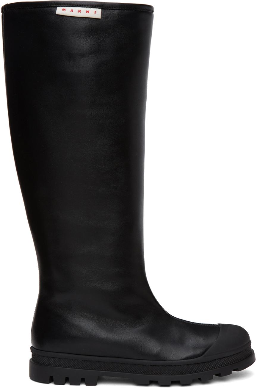Marni 黑色高筒靴