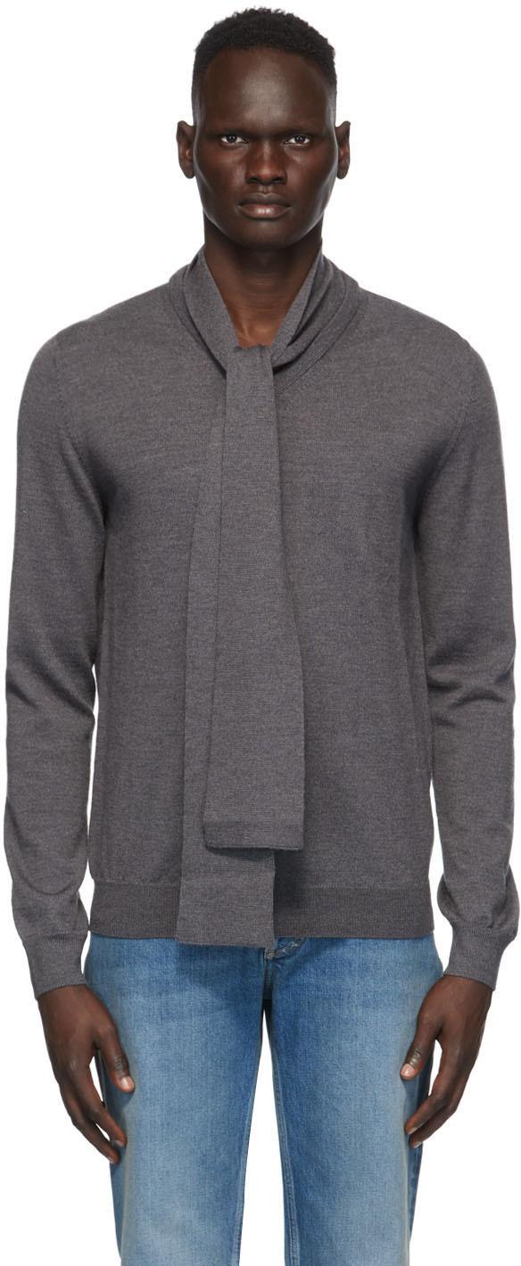 Maison Margiela 灰色 Gauge 12 围巾羊毛毛衣