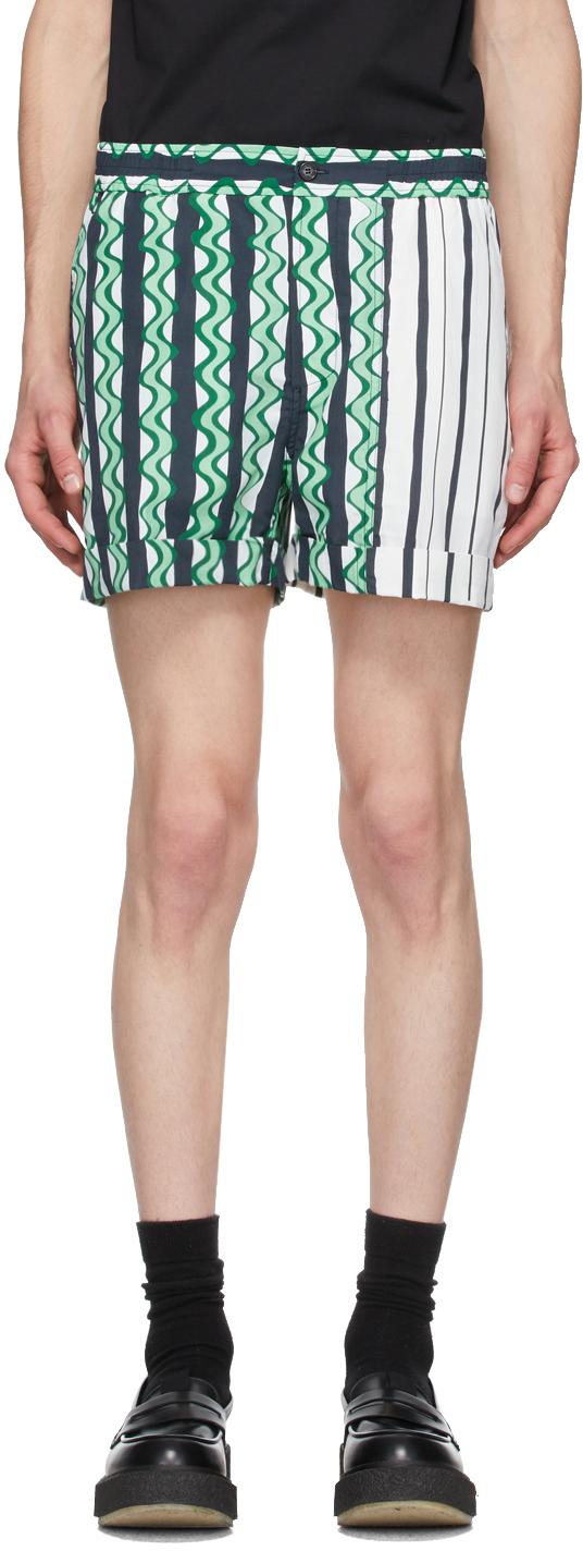 Neil Barrett 绿色 Multi-Print 短裤