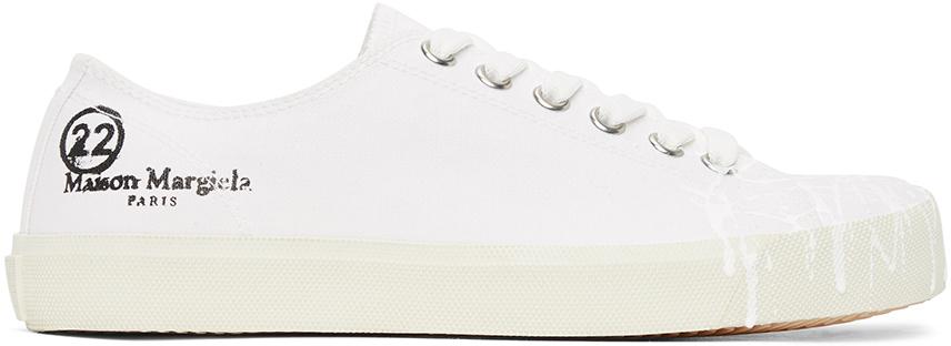 Maison Margiela 白色 Tabi Pollock 帆布运动鞋