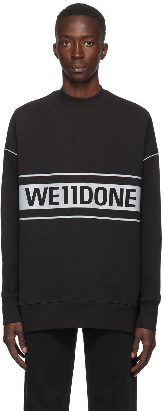 We11done 黑色反光徽标套头衫