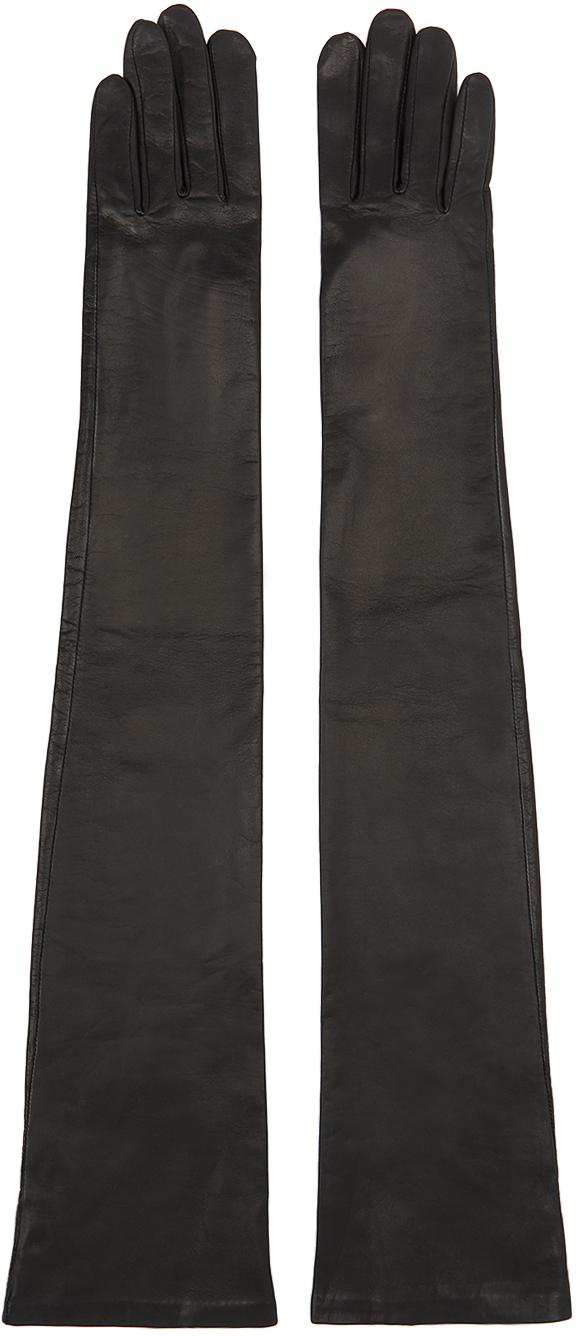 Givenchy 黑色小羊皮长款手套