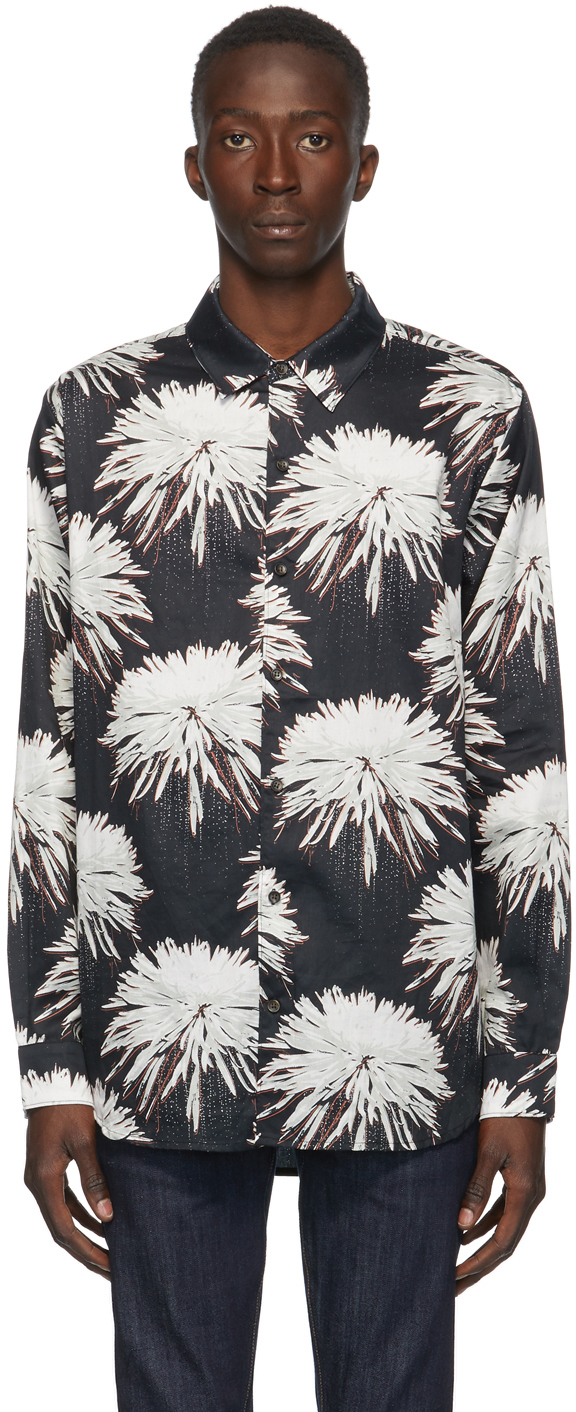 Double Rainbouu 黑色 Space Junk 衬衫