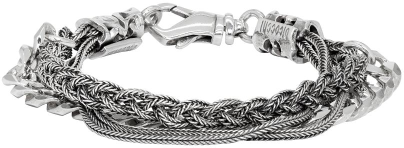 Emanuele Bicocchi 银色 Chain & Braided 手链