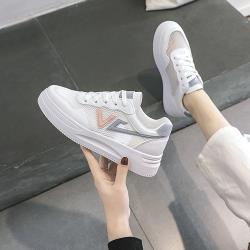 【WS】現+預 韓版透氣網面厚底小白鞋(休閒鞋/平板鞋)