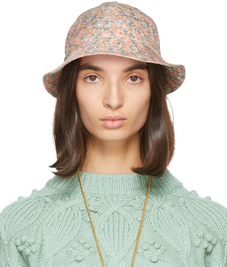 Gucci 多色 Floral Liberty 渔夫帽