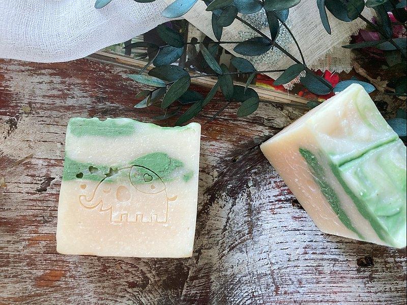 檸檬馬鞭草清新香氛皂/消弭沮喪情緒/卓瑪愛象/手工皂