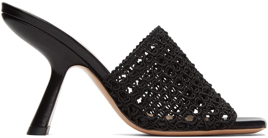 Nicholas Kirkwood 黑色 Alba 高跟穆勒凉鞋