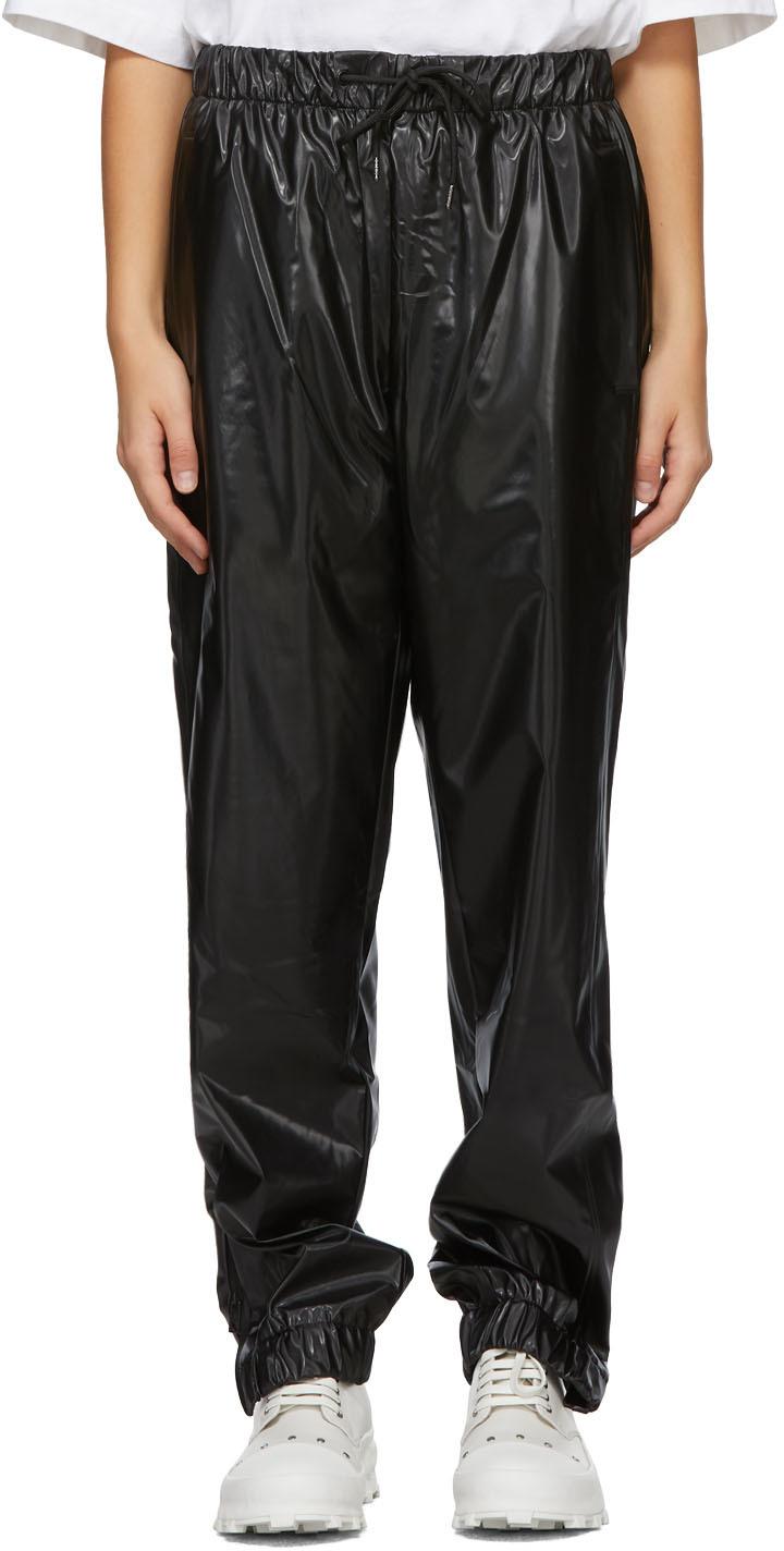 RAINS 黑色防水长裤