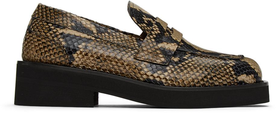 Marni 灰褐色蛇纹乐福鞋