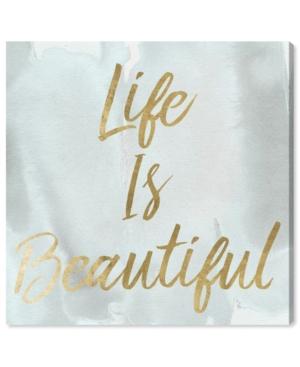 "Oliver Gal Life Is Beautiful Smokey Canvas Art, 12"" x 12"""