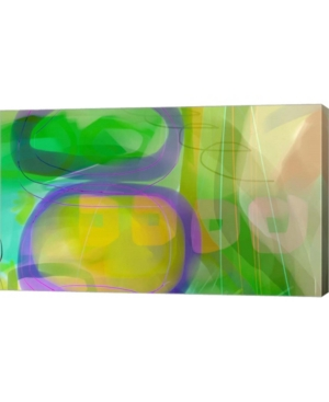 "Metaverse Crop Circles by Delores Naskrent Canvas Art, 33.5"" x 20"""