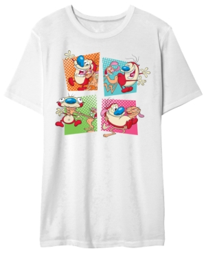 Ren And Stimpy Squares Men's Graphic T-Shirt