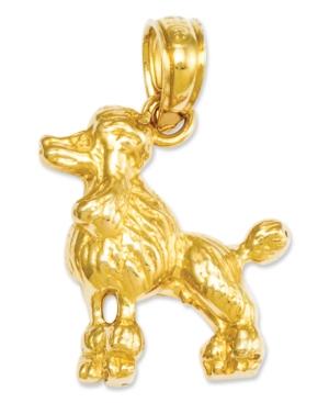 14k Gold Charm, Poodle Dog Charm