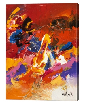 "Metaverse Abstract Orange Summer 2 by William Malucu Canvas Art, 26"" x 36"""