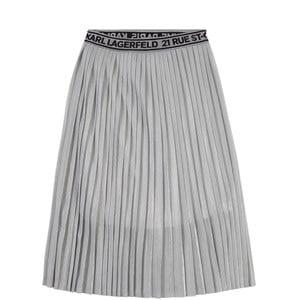 Karl Lagerfeld Kids Karl Lagerfeld Kids Grey Pleated Long Skirt 12 years